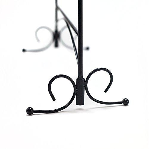 HUJI Black Jewelry Organizer Rack Earring Holder Necklace Bracelet Stand Display Storage (1, Steel Earrings Holder) by Huji (Image #5)