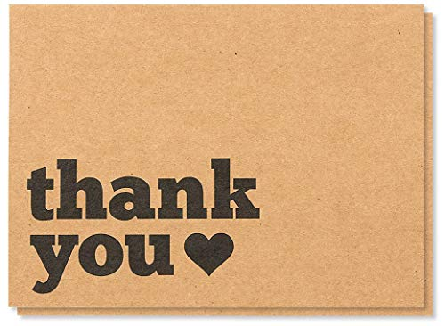 Thank You Cards - 120-Pack All Occasion Kraft Paper Thank Yo