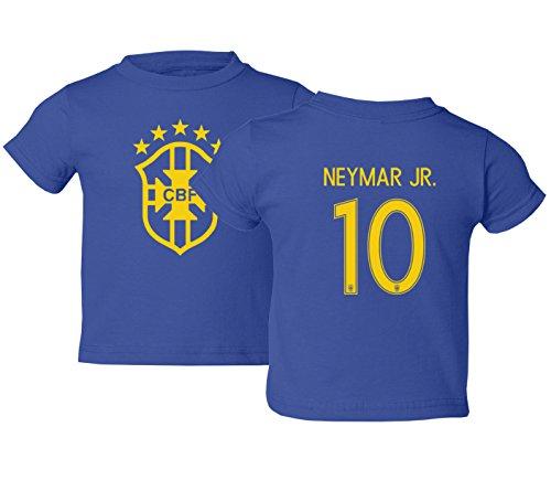 Tcamp Brazil 2018 National Soccer #10 Neymar JR. World Championship Little Kids Girls Boys Toddler T-Shirt