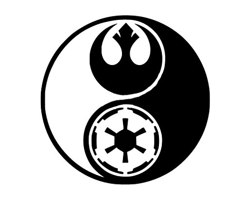CCI Star Wars Ying and Yang Rogue One Decal Vinyl Sticker|Cars Trucks Vans Walls Laptop| Black |5.5 x 5.5 in|CCI1337 (Computer Stickers Ying Yang)