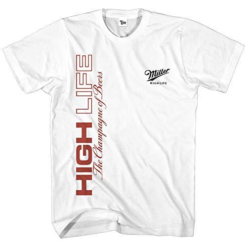 Miller Light Mens Miller High Life Shirt - Miller Coors Beer Logo Shirt Graphic Shirt (White, X-Large)]()