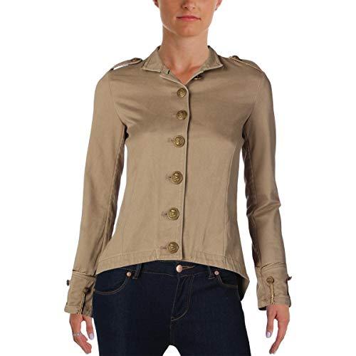 Denim & Supply Ralph Lauren Womens Twill Long Sleeves Military Jacket Tan XS