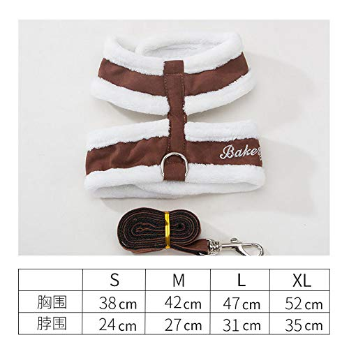 Hhxx9 Pet Supplies Dog Vest Dog Chain Chest Strap Cat Chain Dog Rope Teddy Miniature Dog,Brown,M
