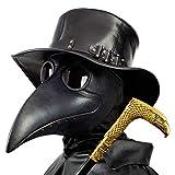 PartyHop Plague Doctor Mask, Black Bird Beak