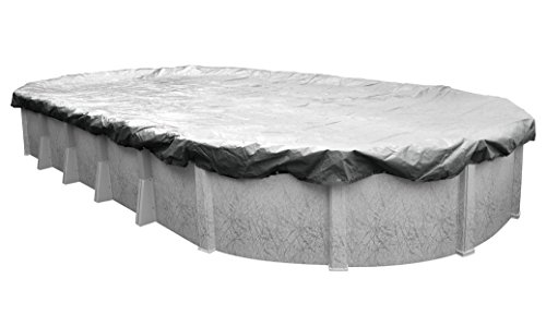 Robelle 551625-4-ROB Dura-Guard Winter Oval Above-Ground Pool Cover, 16 x 25-ft, 03 Silver