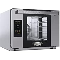 Cadco XAFT-04HS-TD Bakerlux TOUCH Heavy-Duty Electric Countertop Convection Oven, (4) Half Size Sheet Pan Capacity, Bottom Hinged Glass Door