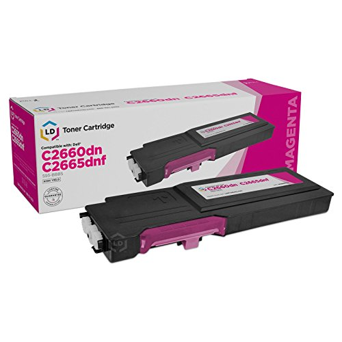 LD Compatible Toner Cartridge Replacement for Dell 593-BBBS High Yield (Magenta)