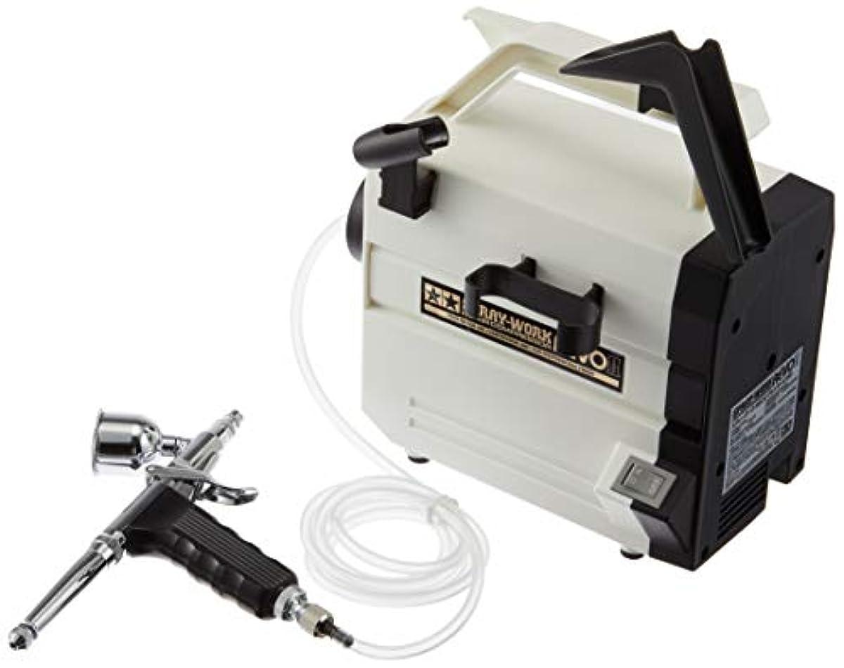 [해외] 퍼터미야 에어브러시 시스템 NO.44 스플레롱doll 컴프레서 레보 II HG트리거 에어브러시 부착 74544