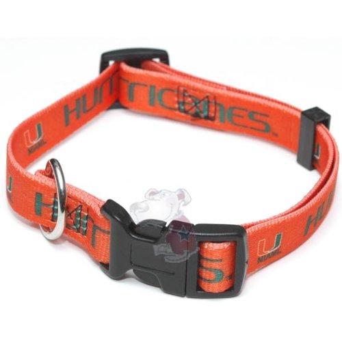 Miami Hurricanes NCAA Dog Collar M: 14-18