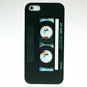 GJY Black Tape Pattern Hard Case for iPhone 5/5S