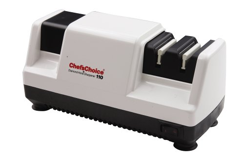 Chef'sChoice 110 Professional Diamond Hone Sharpener, 3-Stage, White