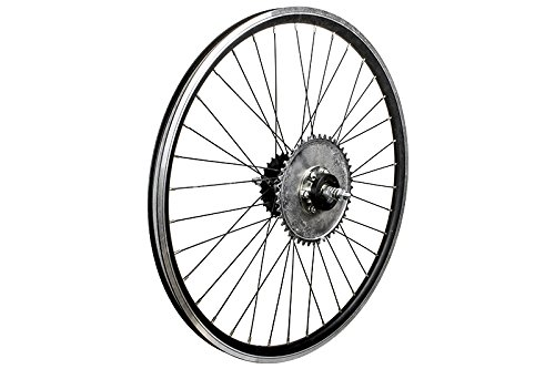 26'' Heavy Duty Rear Bike Wheel & Freewheel Axle Kit For Motorized Bicycles - Gas Bike Engine Rim 44 Tooth Sprocket - Disc brake Rotor by Brilliant (Image #3)