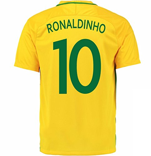 Ronaldinho #10 Brazil Home Soccer Jersey - Brazil Soccer Ronaldinho Shopping Results