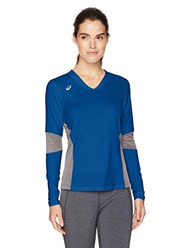 Asics Jersey Shorts (ASICS Decoy Long sleeve, Royal/Heather Grey, Large)