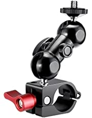 Neewer Montaje de Monitor de Campo con Tornillo de 1/4-pulgada y Rotación de 360-grado para DJI Ronin-M Gimbal de Mano, Se Adapta para Todas Las Barras con Diámetro de 24,9mm-25,5mm
