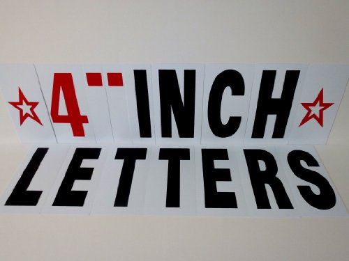 4 INCH LETTERS FOR CHANGEABLE SIDEWALK SIGNS MENU BOARDS AND OUTDOOR (Sidewalk Sign Letters)