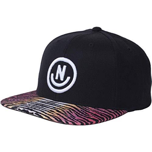 NEFF Men's Daily Smile Pattern Snapback Hats-Custom Adjustable, Black/Tiger Stripes One Size ()