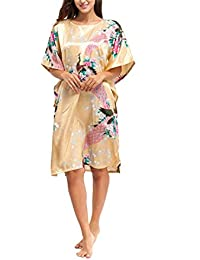 8e61569ab8 Plus Size Summer Drak Green Sexy Silk Rayon Home Dress Women Summer  Nightdress Sleepshirt Robe Gown