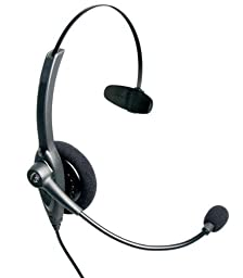 VXi 201561 Passport 10P Over-the-Head Monaural Headset with N/C Microphone