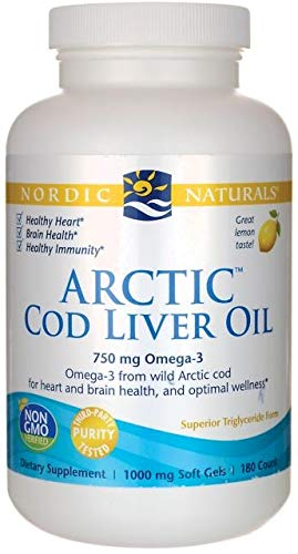 Nordic Naturals Arctic CLO - Cod Liver Oil Promotes Heart and Brain Health, Supports Immune and Nervous Systems, Lemon, 90 Soft Gels