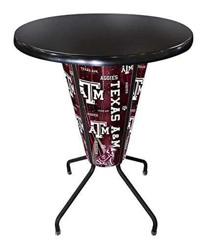 (Holland Bar Stool Co. Outdoor/Indoor LED Lighted Texas A&M Pub Table )