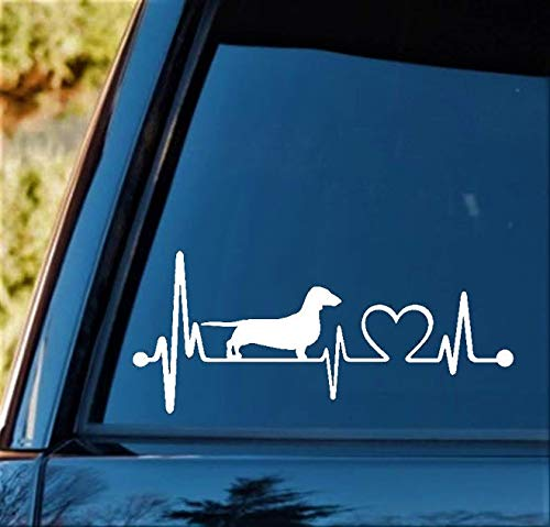 K1025 Dachshund Doxie Heartbeat Monitor Wiener Dog Decal Sticker