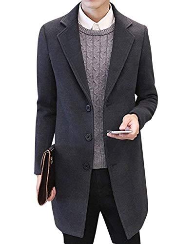 Apparel Huixin Coat Coat Coats Men's Long Rauchfarben Trench Outerwear Men's Fit Windbreaker Leisure Slim Jacket Parka CO4Crxv