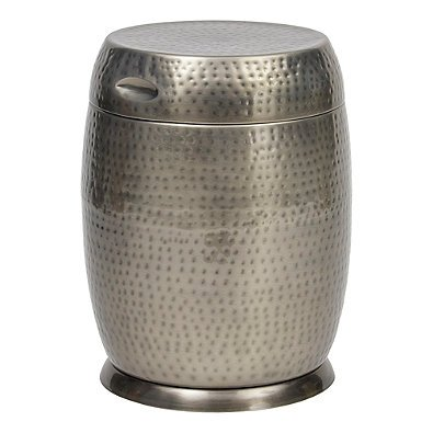 as Drum Table in Silver (SILVER) (Bombay Side Table)