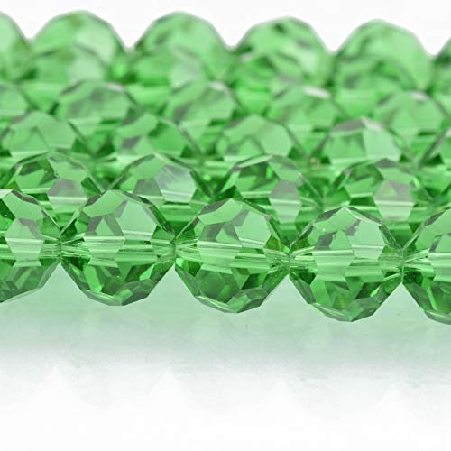 - 12mm Emerald Green Round Faceted Crystal Glass Beads, 40 Beads, bgl1658 Jewelry Making Supplies Set Crafts DIY Kit