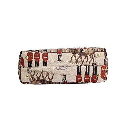 de mujer tela convertible de Signare real tapiz Bolso guardia bolso de hombro en moda para FAw5pXUnx