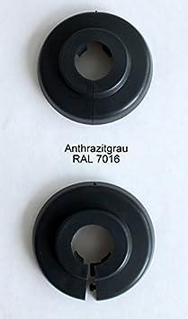 Einzel-Rosetten für Heizungsrohre, Abdeckung für Heizungsrohre, Heizung, 2 Stück, 15mm, 18mm, 22mm Polypropylen in Sonderfarb