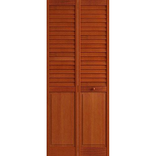 Louver Closet Doors (Plantation Louver/Panel Bifold, Cherry, 24