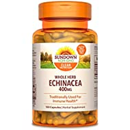 Sundown Echinacea Whole Herb 400 mg, 100 Capsules