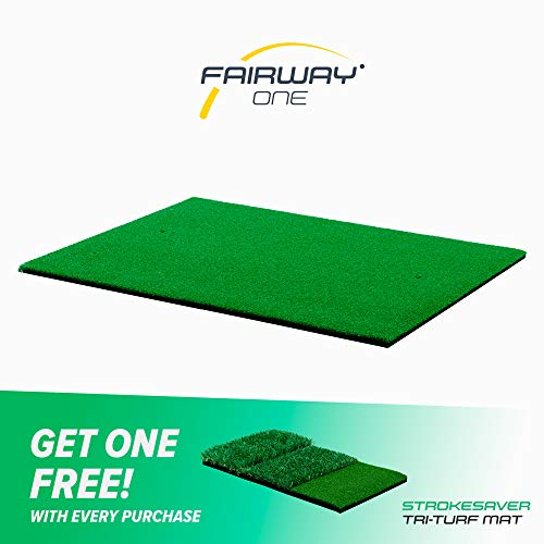 Motivo Golf Fairway One Pro Golf Hitting Mat (3 x 4 Feet) Free Two-Day Delivery