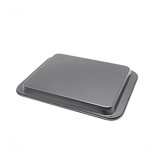 Small baking sheets nonstick set (9. 5inch x 7. 1inch)- ss&cc 8 inch nonstick sheet pan set for baking, carbon steel… 2 ✔premium quality - our state-of-the-art baking sheet(outside size: 9. 5inch x 7. 1inch x 0. 8inch, actual use inside size:7. 5inch x 6inch x 0. 5inch) is crafted from high-quality food safe heavy-gauge steel core heats evenly. And the painting is also food safe. This baking sheet is perfect for small portions and the non-stick finish works perfectly. ✔innovative design - this set of cookie sheets is lightweight and flexible. Perfect release. This is an ideal small cookie sheet for baking or cooking, great in toaster ovens, rv ovens, small portions in conventional ovens or freezer. ✔dishwasher safe - the cookie sheet can super easy to clean up. Just rinse under water or run through the dishwasher.