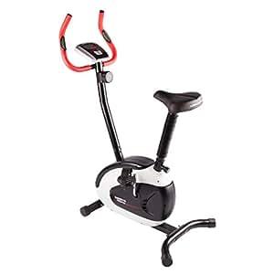 Ultrasport Bicicleta estática Racer 150 Bicicleta estática plegable, bicicleta fitness con consola y sensores de pulso en manillar