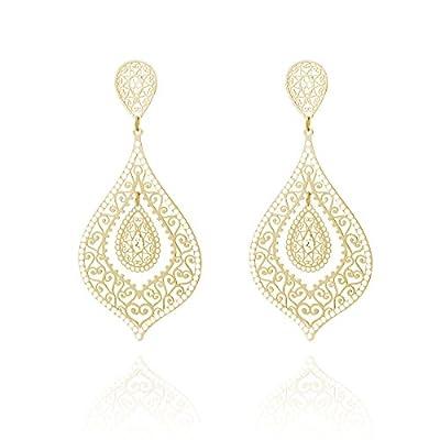 Women's Stud Dangle Earrings,Water Drop Earring for Girls Vintage Studs Earring with CZ Crystal