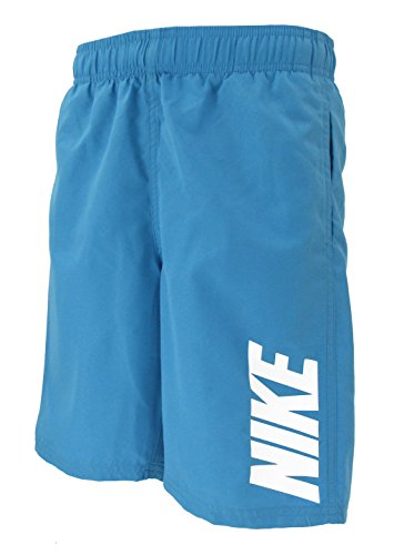 NIKE Boys Board Shorts Trunks Swimwear (Turquoise/White, - Swim Trunks Boys Nike
