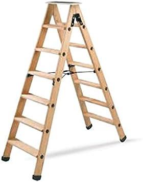 Tubesca – Escalera doble madera con peldaños 2 x 4 + Tablet haut. acceso 1,97 M – 6150004: Amazon.es: Bricolaje y herramientas