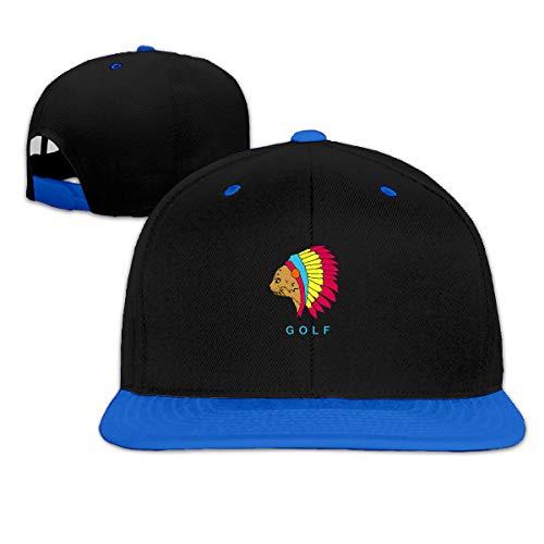 Jskllyhu Rock Punk Baseball Cap Golf Cat Unisex Trucker Hat Hip-Hop Snapback Blue