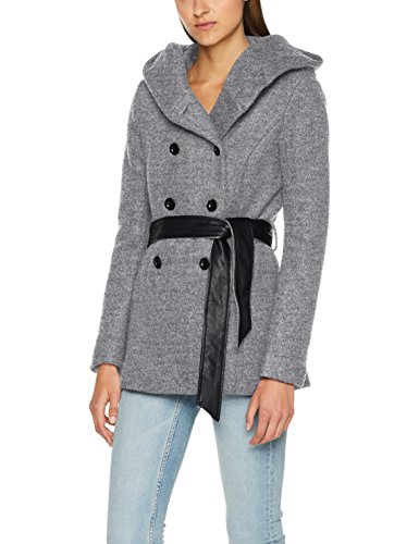Only Onlmary Lisa Short Wool Coat Cc Otw, Blouson Femme Gris (Light Grey Melange)