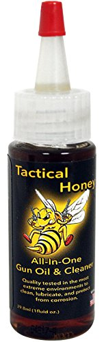 Gun Oil - Tactical Honey Gun Oil (1 oz.) - 2-in-1 Gun Oil and Cleaner - Quality Tested to Protect Against Extreme Elements - Catches Dirt Other Oils Often Miss - Prevents Corrosion -