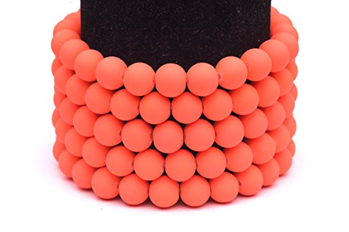 Frosted glass beads peach rubber-tone beads 4mm round Sold per pkg of 3x32inch (750 BEADS)