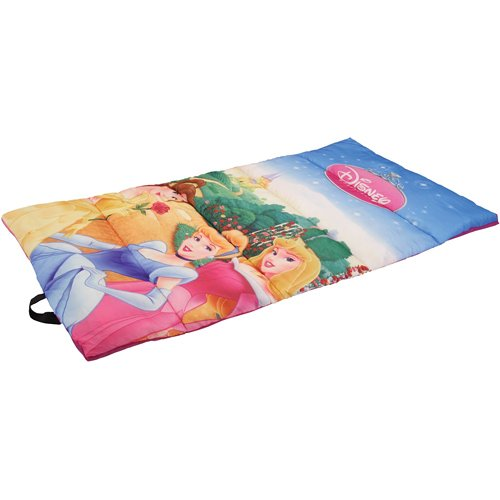 Disney Youth Princess Sleeping Bag with 2.0-Pound Fill, 28 x 56-Inch, Outdoor Stuffs