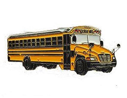 Blue Bird Bus >> Amazon Com Wwot Bluebird Vision School Bus Lapel Pin Toys Games