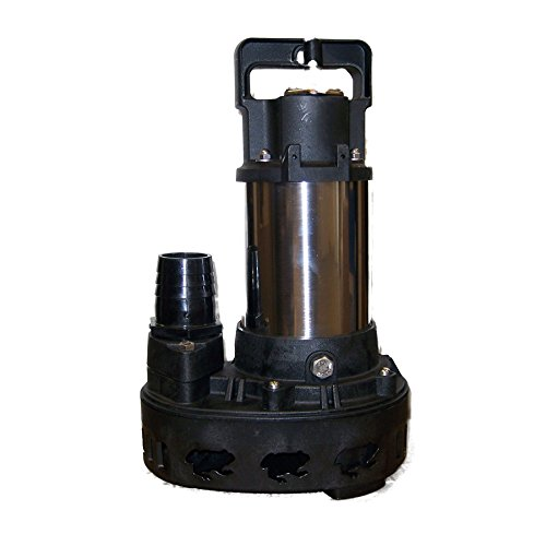 (Piranha 4,200 GPH Direct Drive Submersible Pump – Up To 4,200 GPH Max Flow)