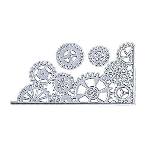 Cutting Dies Stencil Template Mould,Bottone DIY Metal Embossing Stencil for Album Scrapbooking Paper Card Art Craft Decor Christmas Design (Gear)