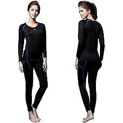 FX Womens MAXHEAT Fleece Long Johns Thermal Underwear Set Black M
