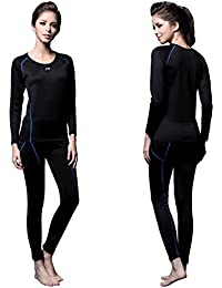 FX Womens MAXHEAT Fleece Compression Performance Long Johns Thermal Underwear