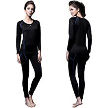 FITEXTREME Womens MAXHEAT Fleece Compression Performance Long Johns Thermal Underwear